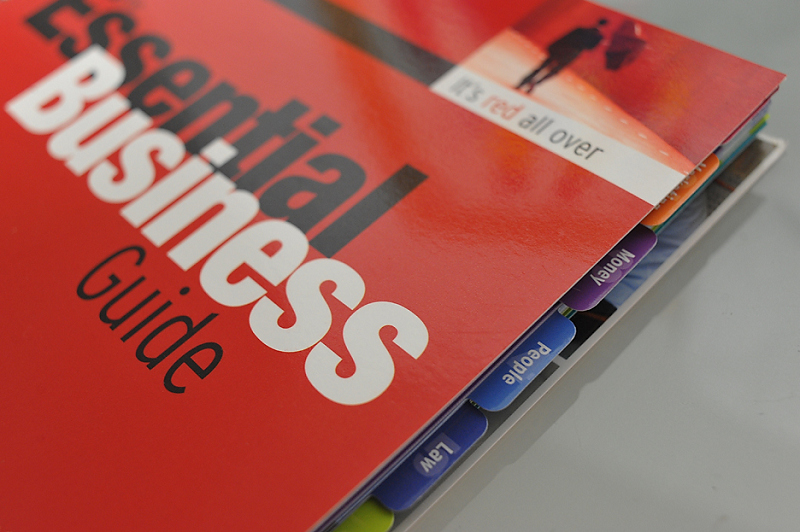 The Essential Business Guide. Notice the tabbed dividers, very useful!