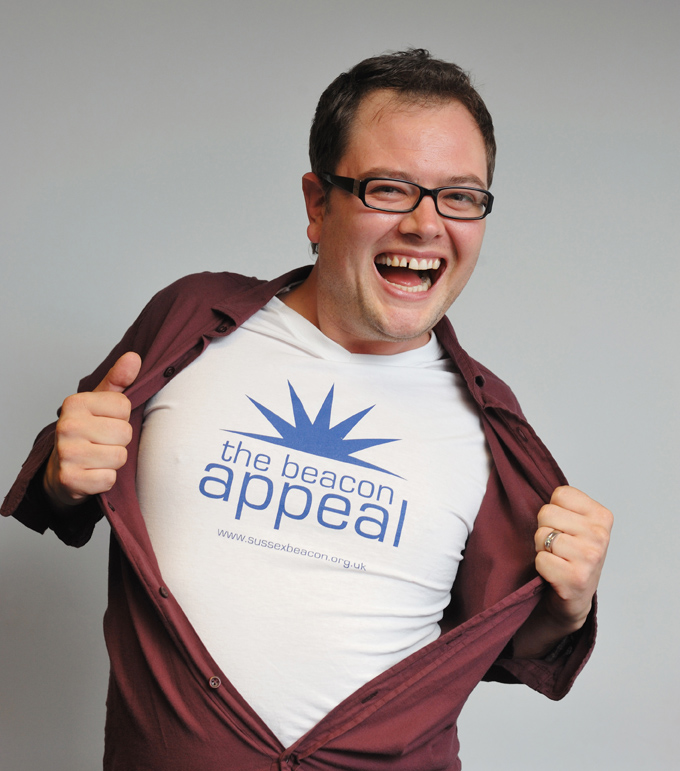 Alan Carr. PR shoot for Sussex Beacon