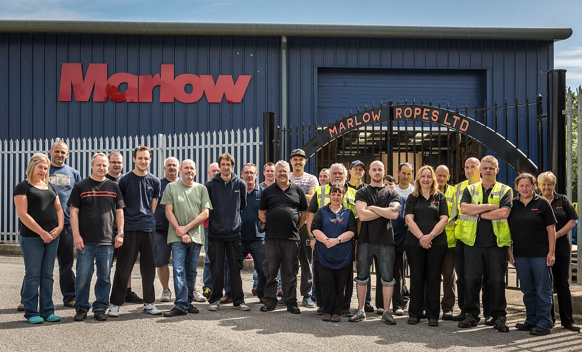 Marlow Ropes Ltd, people at work, portraits, 2016