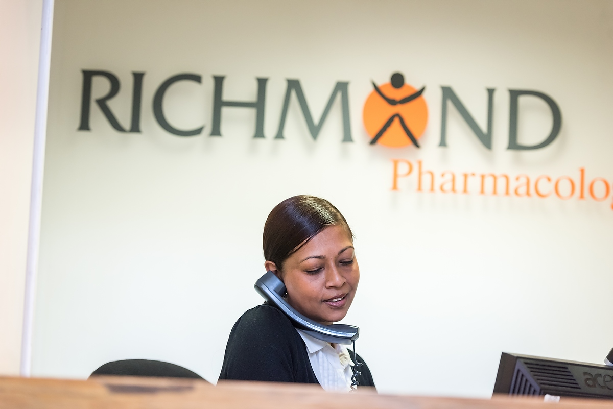 Richmond Pharmacology, staff, people at work, 2016